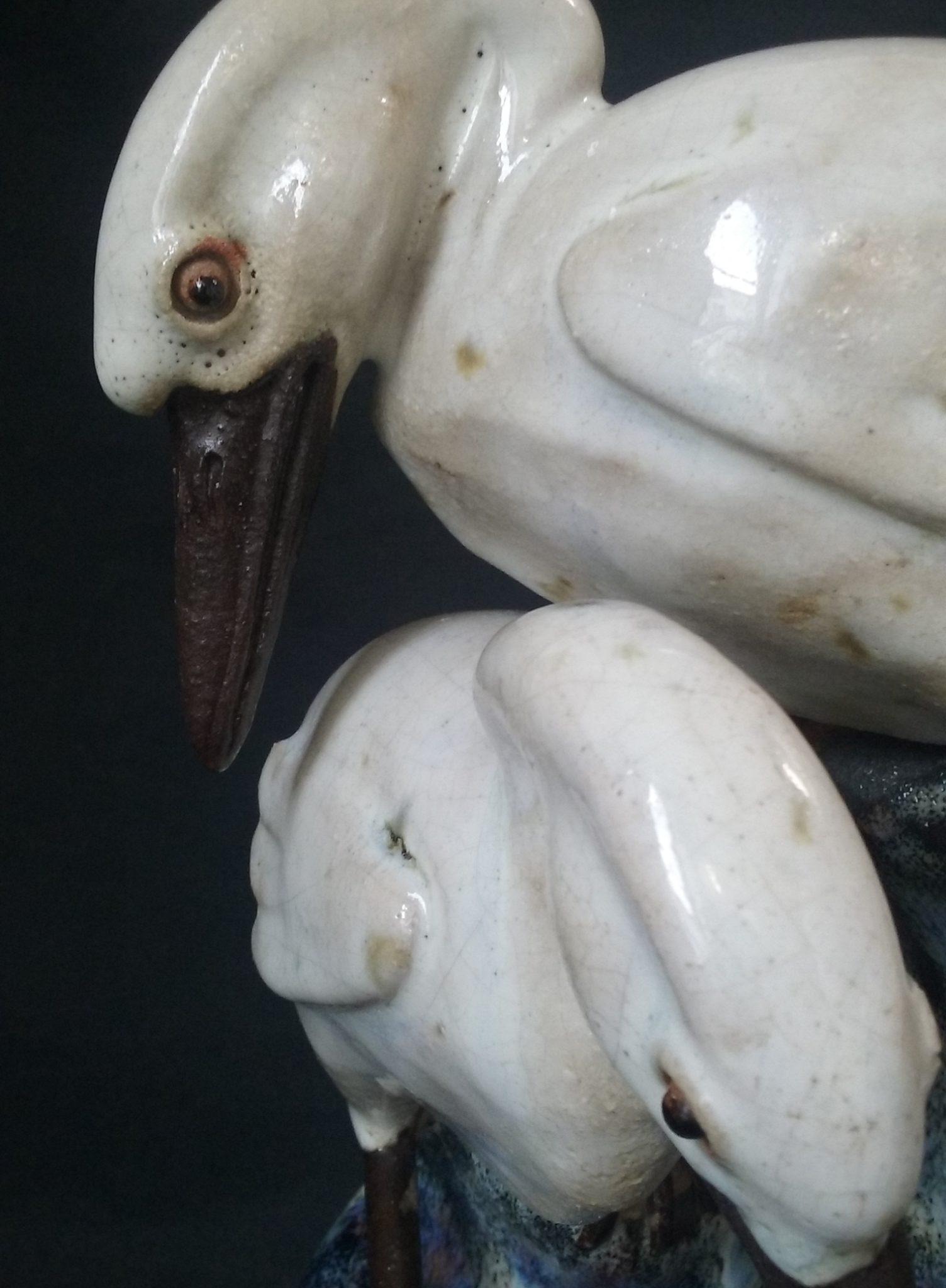 oiseau grès céramique bec cassé