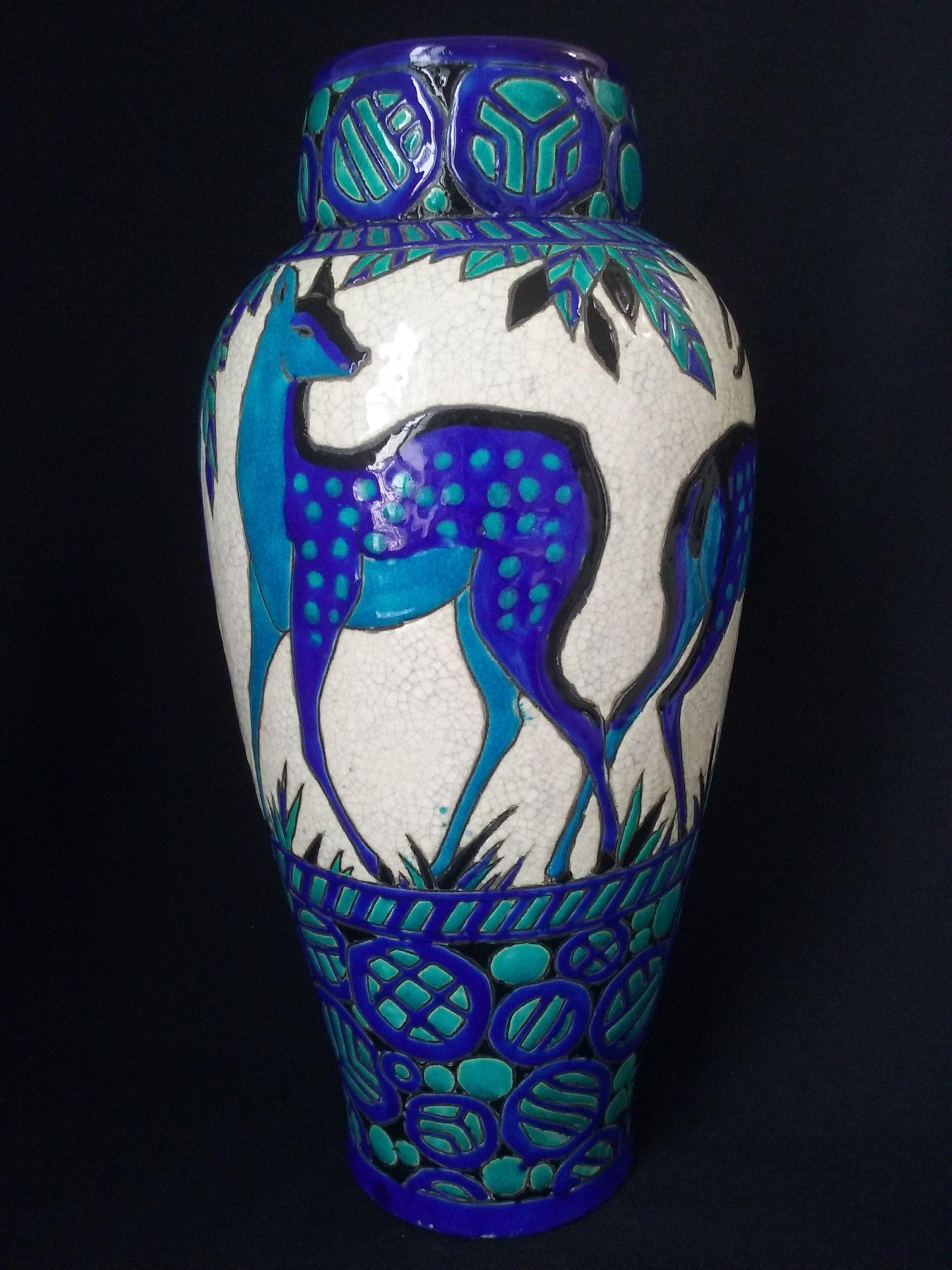 vase charles catteau art déco restauration réparation