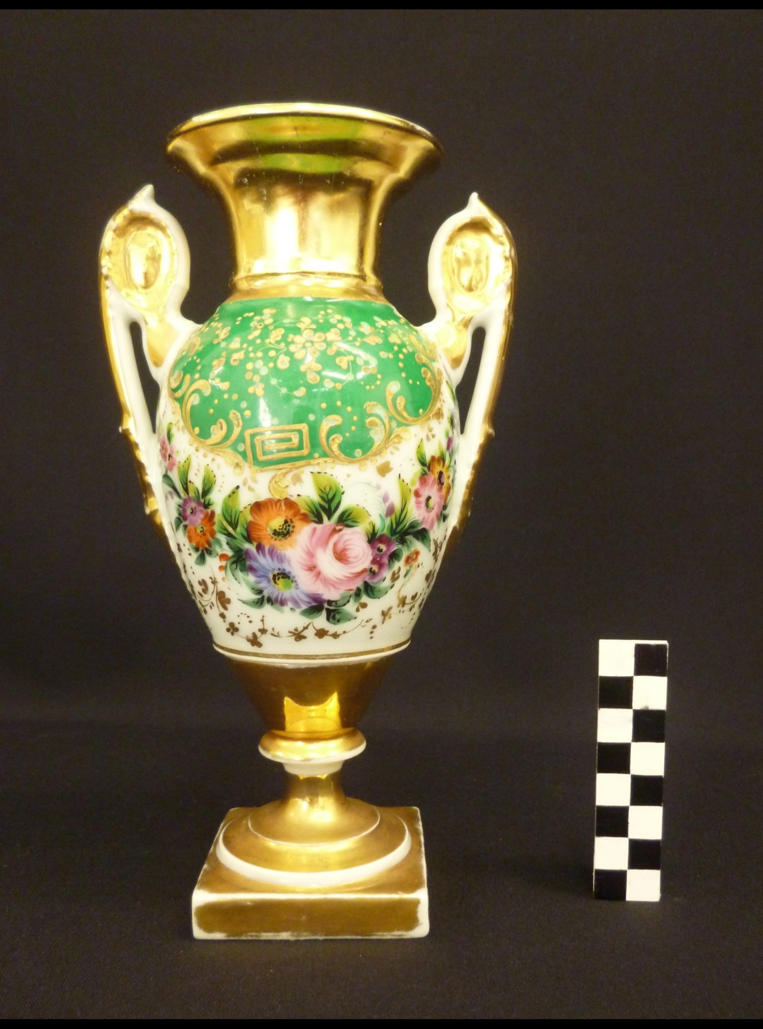 vase de paris dorure col restauration illusionniste