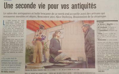 Courrier picard, salon des Antiquaires Amiens 2019