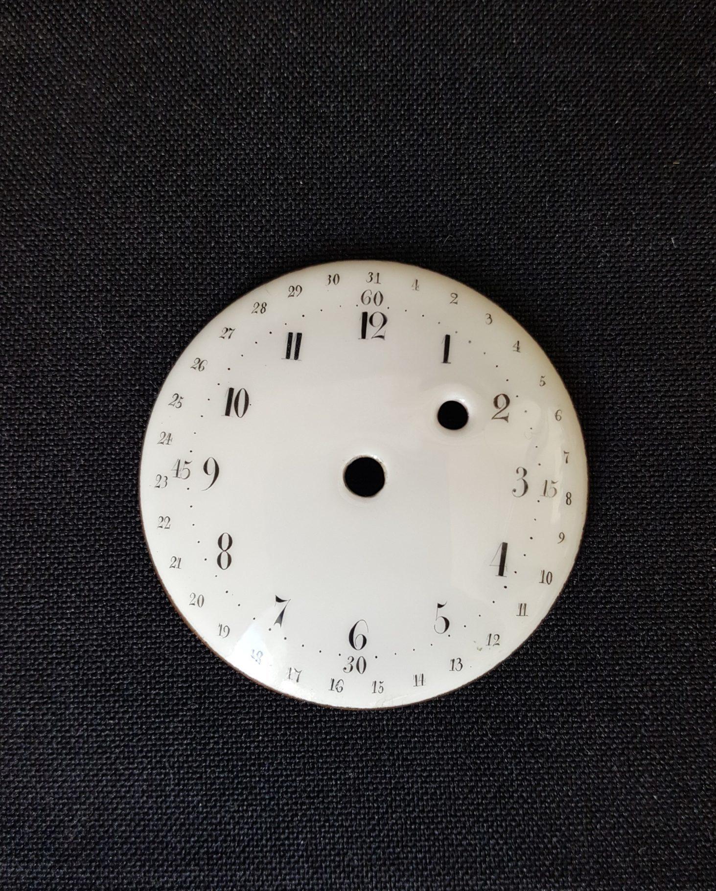 Restauration cadran de montre, métal émaillé