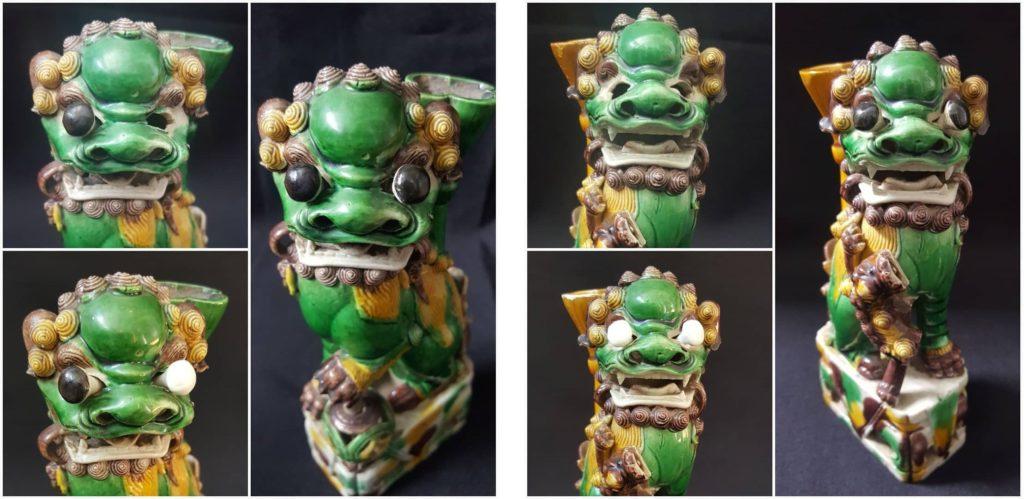 chiens de fô restauration porcelaine chine